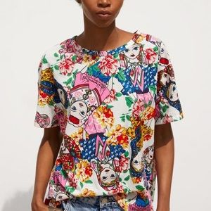 ZARA Russian doll matryoshka print top